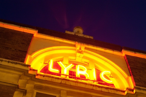 The Lyric Picture House Neon Sign at Night 26th September 2011