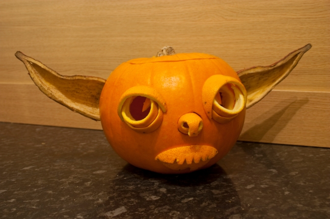 Halloween Yoda Pumpkin