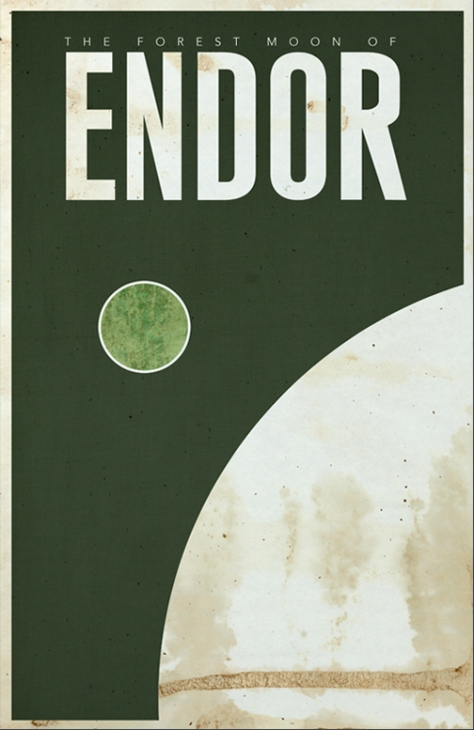 Star Wars Planetary Tourism Posters | Endor