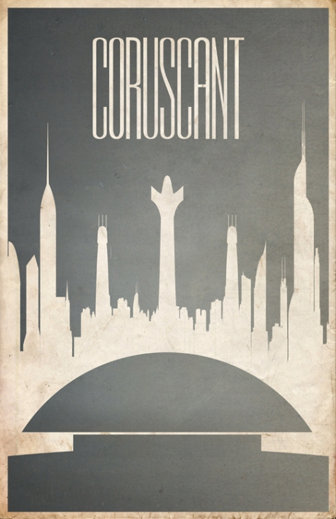 Star Wars Planetary Tourism Poster | Coruscant