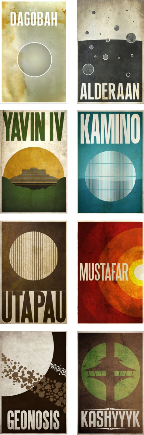Star Wars Planetary Tourism Posters | Various