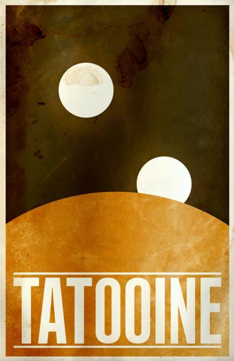 Star Wars Planetary Tourism Poster | Tatoonine