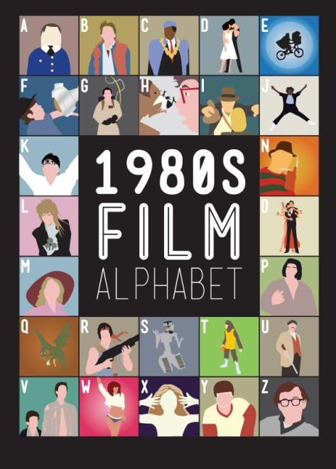 1980 Film Alphabet Movie Posters by Stephen Wildish