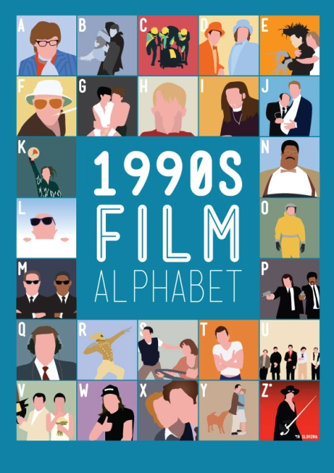 1990 Film Alphabet Movie Posters by Stephen Wildish
