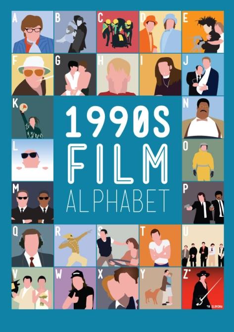 1990 Film Alphabet Movie Posters by Stephen Wildish