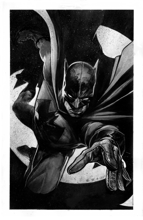 Eddie Newell's Black & White Batman Art