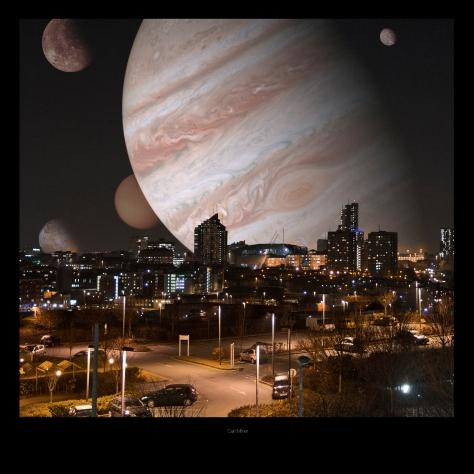 Jupiter over Leeds with Photoshop Wizardry
