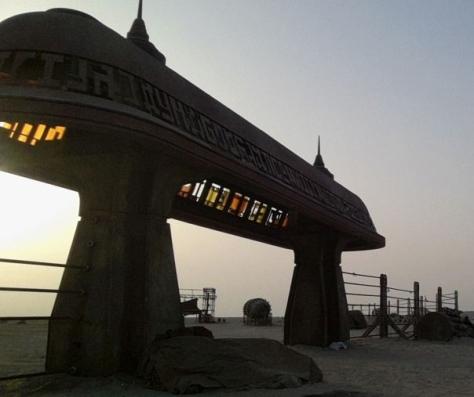 Leaked Star Wars Episode VII onset photos Jabbas Palace Gate
