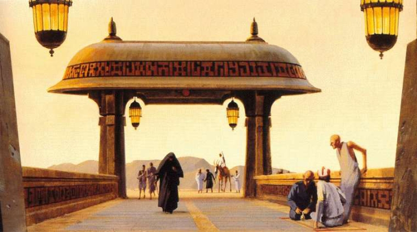 Ralph McQuarrie Jabbas Palace Gate Star Wars Episode VII