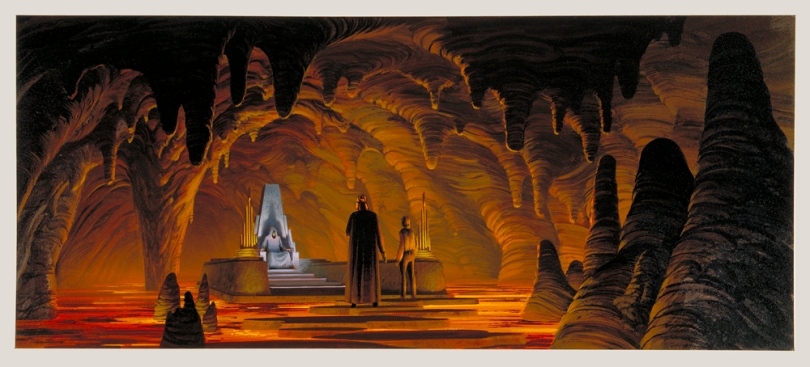 Ralph McQuarrie The Art of Star Wars The Return of the Jedi Emperors Lava Cave