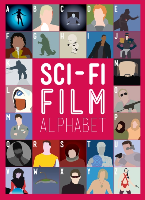 Sci-Fi Film Alphabet by British designer Stephen Wildish