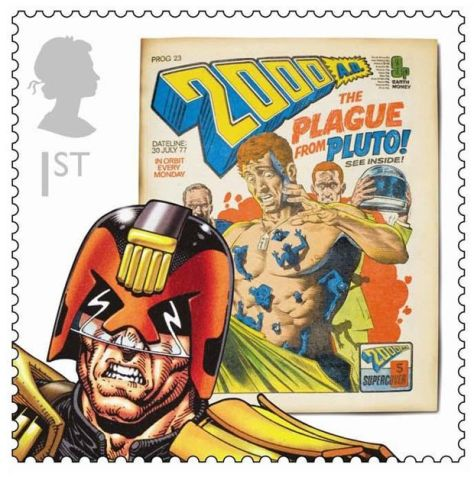 Royal Mail Comic Stamps Issue 2012 Judge Dredd