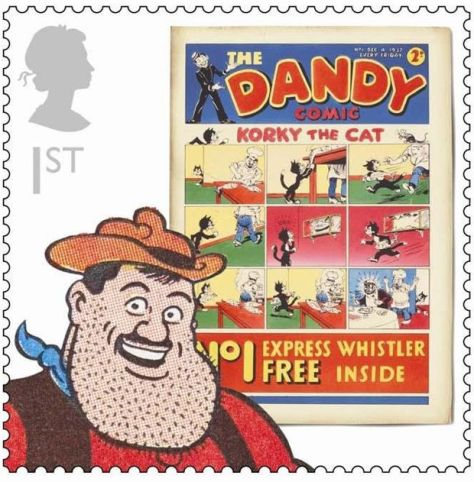 Royal Mail Comic Stamps Issue 2012 The Dandy