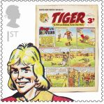 Royal Mail Comic Stamps Issue 2012 Tiger