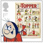 Royal Mail Comic Stamps Issue 2012 Topper