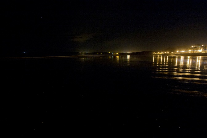 6 Filey at Night : Filey Bay