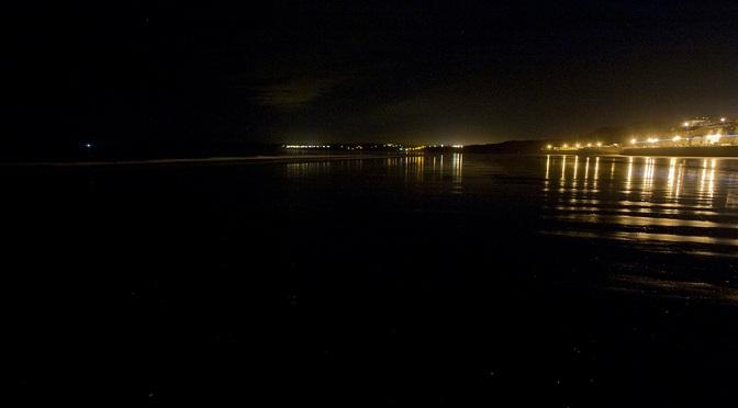 6 Filey at Night : Filey Bay