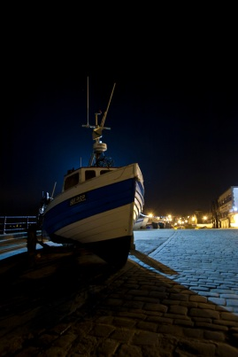 14 Filey at Night : Filey Fishermen