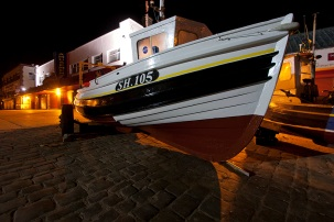 9 Filey at Night : Filey Boats on the Brigg