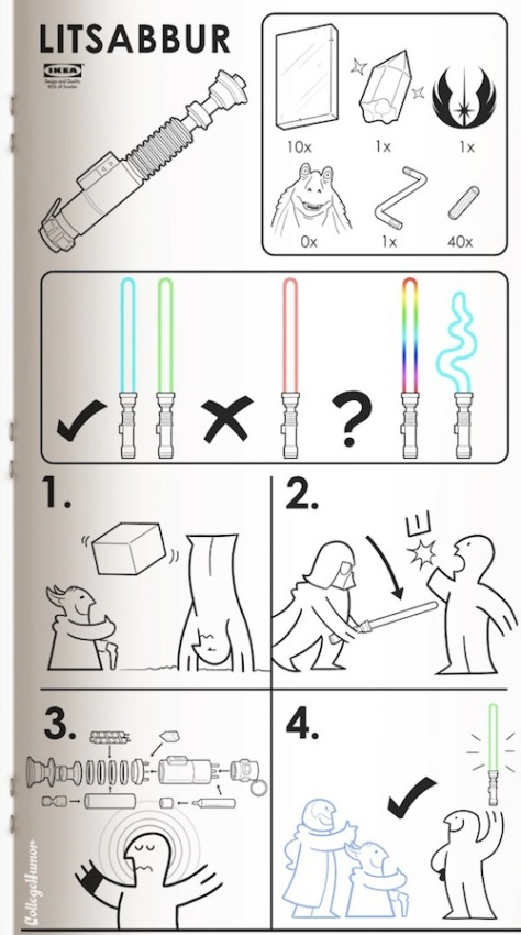 Ikea Star Wars Movie Manual