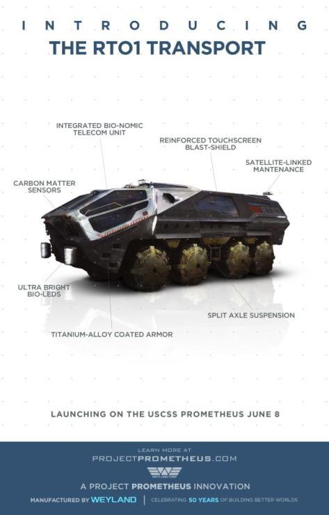 The Prometheus RTO1 Transport Vehicle
