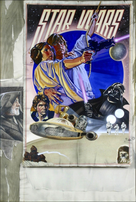 The Star Wars Style 'D' Film Poster Original Artwork