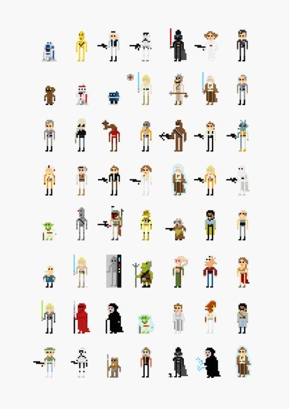 Star Wars '8-Bit' Pixel Characters