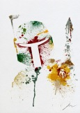 Star Wars Paint Splattered Boba Fett