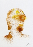 Star Wars Paint Splattered C3PO