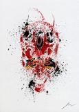 Star Wars Paint Splattered Darth Maul