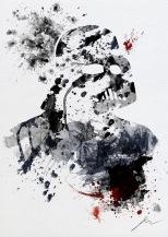 Star Wars Paint Splattered Darth Vader