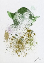 Star Wars Paint Splattered Master Yoda