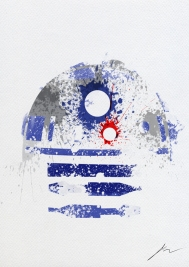 Star Wars Paint Splattered R2 D2
