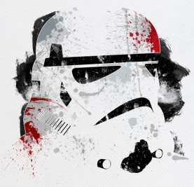 Star Wars Paint Splattered Stormtrooper