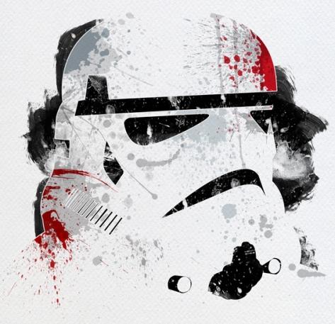 Star Wars Paint Splattered Stormtrooper