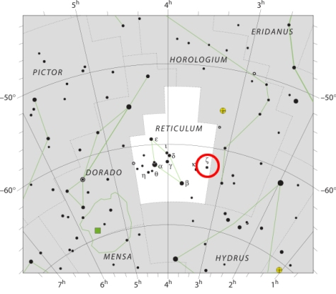 Zeta Reticuli (ζ Ret, ζ Reticuli) is a binary star system in the southern constellation of Reticulum