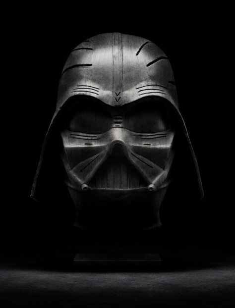 Darth Vader Wood Sculpture Holly-Wood Scultpures MilnersBlog