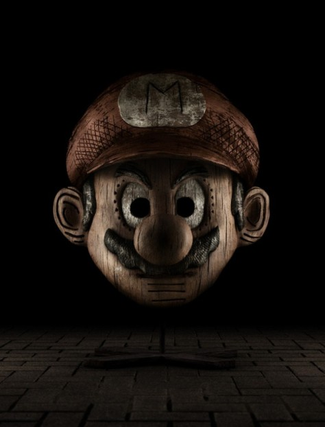 Super Mario Wood Sculpture Holly-Wood Scultpures MilnersBlog