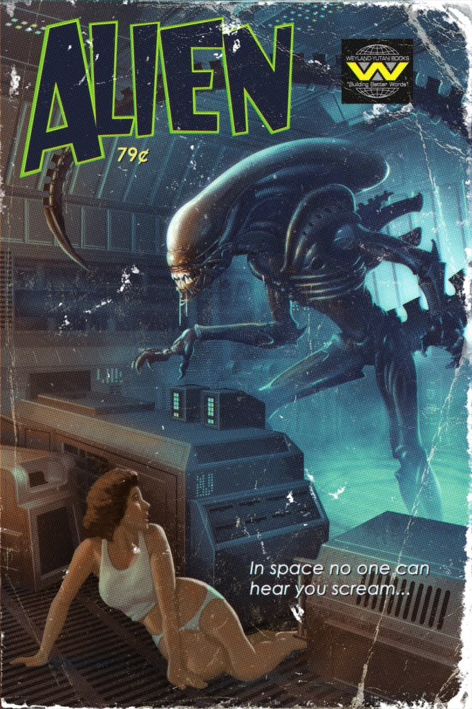Vintage Sci Fi Movie Posters Alien MilnersBlog
