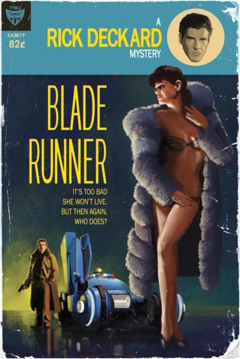 Vintage Sci-Fi Movie Posters Blade Runner MilnersBlog