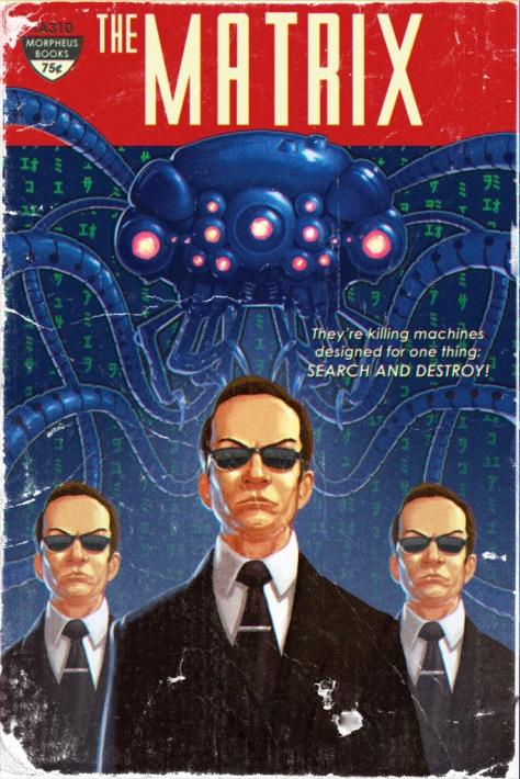 Vintage Sci-Fi Movie Posters The Matrix MilnersBlog