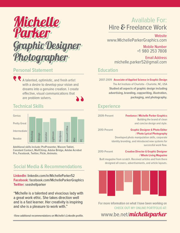 resume graphic designer samples
