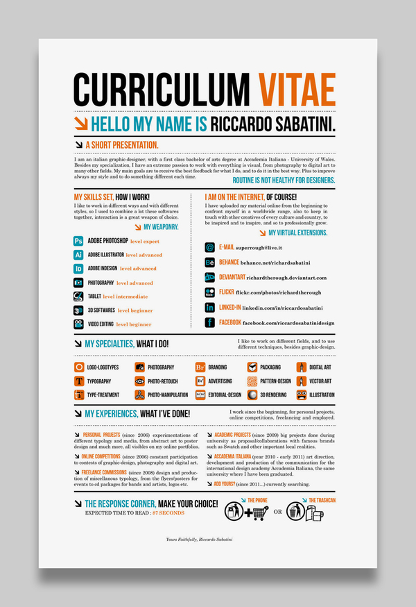 Graphic Design Resume Template This. 50 Awesome Resume Designs