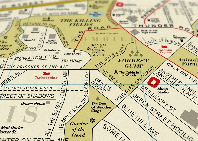 Film Map by Dorothy Forest Gump