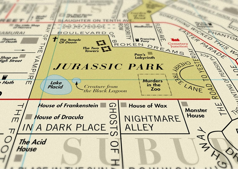 Film Map by Dorothy Jurassic Park