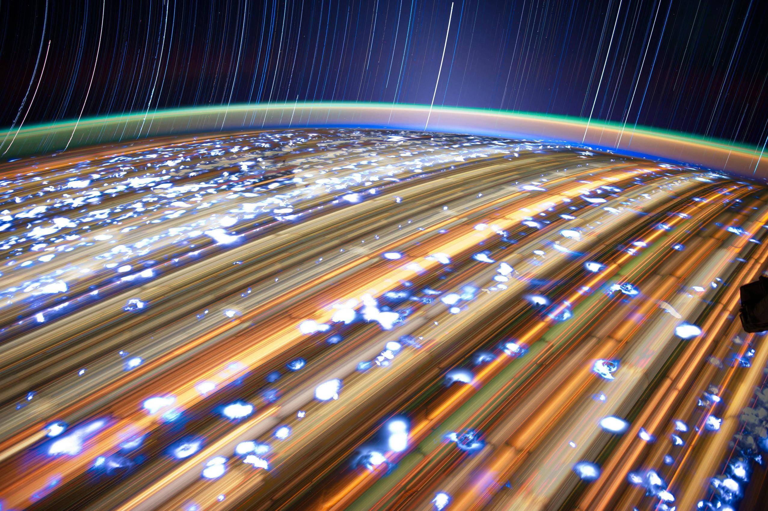 time lapse photography from space