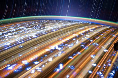 ISS Star Trails photography by Don Pettit 2012