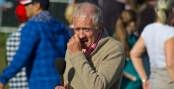 Olympic Torch Leeds Celebration Concert _ Look Norths Harry Gration Picking his Nose