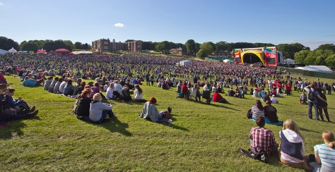 Olympic Torch Leeds Celebration Concert Temple Newsam Crowd
