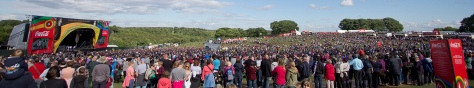 Olympic Torch Leeds Celebration Concert Temple Newsam Crowds